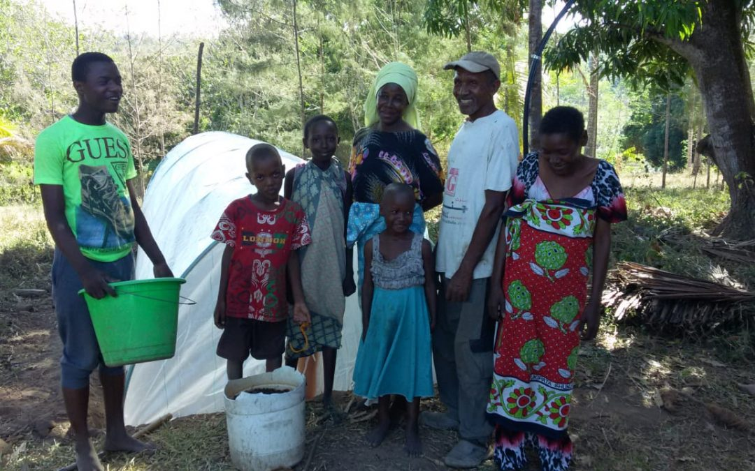 A family owning Flexi biogas